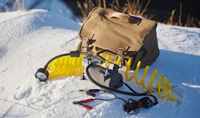 air compressor cold in snow