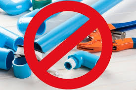 plastic pipes compressed air