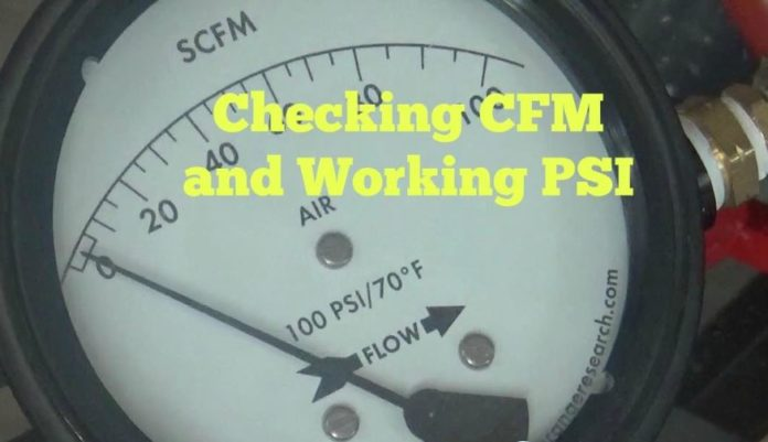 cfm and psi