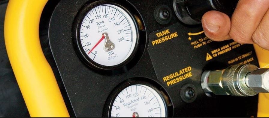 two air gauges on my compressor