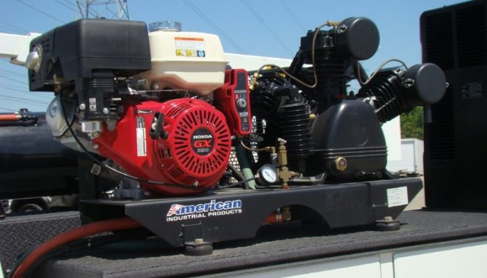 covered air compressor