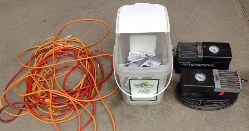 air compressor cord caution