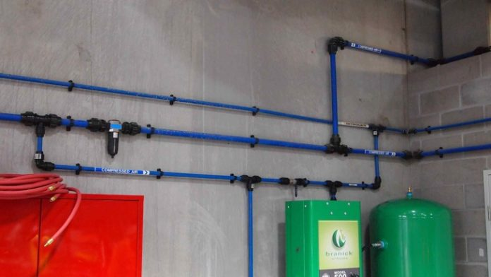 plastic pipe for compressed air